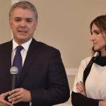 Ivan Duque y su jefe de gabinete, María Paula Correa