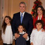 Una feliz Navidad, desean a los colombianos el Presidente Iván Duque, la Primera Dama de la Nación, María Juliana Ruiz, y sus hijos Luciana, Matías y Eloísa.