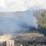 Incendio en el norte de Bogotá Foto: Bomberos de Bogotá