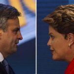 Aécio Neves y Dilma Rousseff.