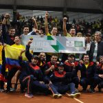 Festejo del Equipo Colombia Colsanitas.