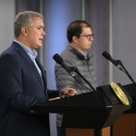 Presidente Duque y el Fiscal General de la Nación, Francisco Barbosa