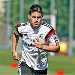 James entrena con el Real Madrid2