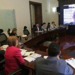 Minterior Alicia Arango y el Vicemistro Caqrlos Alberto Baena en sesión informal virtual de la Comisión de Paz del Senado