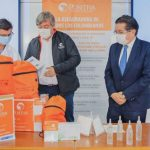 - La primera entrega se realizó en Bogotá con Positiva Compañía de Seguros. Bogotá, 8 de abril de 2020. Como parte del Plan de contingencia para covid-19 y con el objetivo de salvaguardar a los trabajadores del sector salud y pacientes que acudan a centro