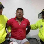 Cuerpo Élite de la Policía Nacional capturó de alias 'Azul'.Foto policía Putumayo