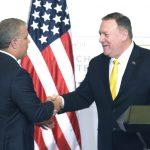 Presidente Duque con el secretario de Estado de Estados Unidos, Mike Pompeo,