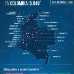 Según reporte del Ministerio de Salud de este martes, Colombia se acerca a los 6000 contagiados por COVID-19
