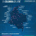 El total de contagiados de COVID -19 es de 21.175 y de fallecidos 727 en Colombia