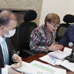 Viceministro del interior, Carlos Alberto Baena y la Ministra del Interior Alicia Arango
