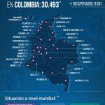 Confirmados 30.493 contagiados y 963 fallecidos por COVID 19 en Colombia01062020