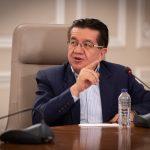 El Ministro de Salud, Fernando Ruiz, hizo este miércoles un llamado al buen uso de las unidades de cuidado intensivo en las entidades de salud, para no afectar a los pacientes más necesitados, dentro de la pandemia del covid-19. Foto César Carrión  Foto - PRESIDENCIA
