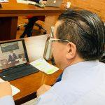 Fernando Ruiz, ministro de salud pone en práctica el Coronapp, el aplicativo integrador para el manejo del covid-19.