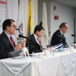 Fiscal General de la Nación, Francisco Barbosa Delgado, Contralor General de la República, Carlos Felipe Córdoba y El Procurador General de la Nación, Fernando Carrillo