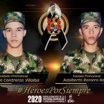 Soldados Jorman Contreras y Adalberto Romero,