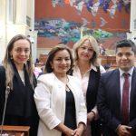 Senadora Ana Paola Agudelo, Representante a la Cámara Irma Luz Herrera, Senadora Aydee Lizarazo (Vocera) Senadora Aydee Lizarazo (Vocera) y senador Carlos Eduardo Guevara , presidente del Partido MIRA