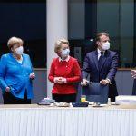 Los líderes europeos debaten una nueva propuesta para crear un fondo 750.000 millones.Foto Darío Pignatelli DPA