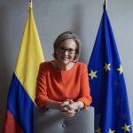 Patricia Llombart, la representante de la Unión Europea en Colombia habló con la Agencia Anadolu sobre el nuevo convenio para apoyar la reincorporación de excombatientes.