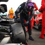Hamilton gana a trompicones el Gran Premio de Gran Bretaña tras un pinchazo -Foto