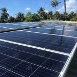 El Ministerio de Minas y Energía junto con el Fondo de Energías No Convencionales y Gestión Eficiente de la Energía (Fenoge) en Colombia anunciaron la entrega de cinco paneles solares para San Andrés Providencia y Santa Catalina. Foto Ministerio de Minas y Energía de Colombia - Fenoge - Handout Agencia Anadolu