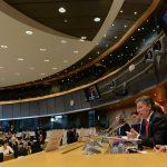 El Presidente Juan Manuel Santos afirmó este martes en la Comisión de Asuntos Exteriores del Parlamento Europeo, que es necesaria la colaboración del mundo para que en Colombia se obtenga una paz sostenible. Foto: César Carrión - SIG
