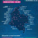 Colombia sobrepaso la cifra de 11 mil muertes por Covid -19-mapa
