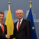 Presidente Santos se reunión con autoridades de la Unión Europea.