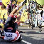 Final accidentado de la primera etapa del Tour de Polonia