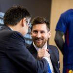 Presidente del Barcelona Josep Maria Bartomeu y Lionel Messi