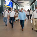 El Aeropuerto Ernesto Cortizoss, de Barranquilla, fue inspeccionado este sábado por el Presidente de la República, Iván Duque, quien recorrió las instalaciones y observó las obras de remodelación realizadas. Foto Nicolás Galeano- PRESIDENCIA