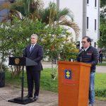 Presidente de la República Ivan Duque y el Fiscal General de la Nacion Francisco Barbosa