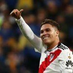 Juan Quintero de River Plate celebra tras ganar la final de la Copa Libertadores ante Boca Juniors REUTERS/Sergio Perez