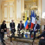 Reunion con el Presidente de Francia
