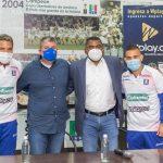 Dayro Moreno y Jown Cardona, nuevos jugadores del Blanco Blanco.Foto Cortesía Once Caldas