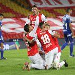 Santa  Fe celebra empate con  Millonarios en partido por la fecha 10 de la Liga BetPlay DIMAYOR I 2020 Foto to: VizzorImage/ Felipe Caicedo / Staff
