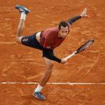 El tenista bumangués Daniel Galán en tercera ronda de eliminación del Roland Garros 2020 (REUTERS