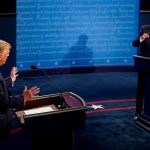 Debate entre el presidente de EEUU, Donald Trump, y el candidato demócrata Joe Biden en el primer debate de cara a las elecciones de noviembre.  Morry Gash/Pool via REUTERS