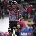 Ruben Guerreiro (EF Pro Cycling) ganó la novena etapa del 103º Giro d'Italia, entre San Salvo y Roccaraso (Aremogna) de 208 km.