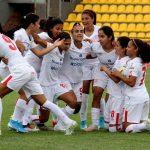 Deportivo Pasto y America de Cali durante partido por la fecha 1 de la Liga Femenina BetPlay DIMAYOR Foto VizzorImage / Leonardo Castro / Cont.