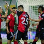 Michell Ramos (#17) del Cúcuta celebra después de anotar el primer gol de su equipo durante partido entre Cúcuta Deportivo y Envigado F.C. por la fecha 15 de la Liga BetPlay DIMAYOR 2020 Foto VizzorImage / Ricardo Vejarano / Cont