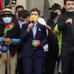 Recibimos la movilización pacífica de la Minga Claudia López
