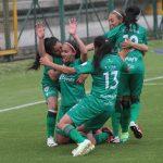 Laura Barreto de La Equidad  celebra después de anotar el primer gol de su equipo durante el partido entre La Equidad  y Fortaleza CEIF  por la fecha 1 de la Liga Femenina BetPlay DIMAYOR I 2020Foto: VizzorImage/ Felipe Caicedo / Staff