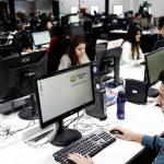 Empleados trabajan en las oficinas de Mercado Libre en Sao Paulo, Brasil. REUTERS/Nacho Doce
