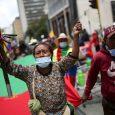 Indígenas colombianos participan en una manifestación en contra de las políticas del gobierno del presidente Iván Duque, en Bogotá, Colombia. REUTERS/Luisa González