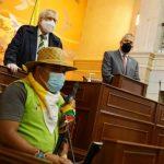 Los líderes de la Minga Indígena se expresaron en el Congreso de la República.Foto Camara de Representantes