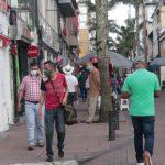 Aglomeraciones en el centro de Manizales a pesar del pico de la Pandemia