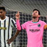 El delantero de Barcelona Lionel Messi celebrando tras marcar de penal ante la Juventus. REUTERS/Massimo Pinca