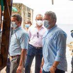 En la isla de San Andrés, el Presidente Duque hizo un recorrido por algunos establecimientos comerciales, restaurantes y zonas residenciales.