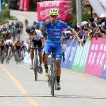 Bernardo Suaza (Supergiros Alcaldía de Manizales) se adjudicó la victoria de la primera etapa de la Vuelta a Colombia Mindeporte 70 años y se convirtió en el primer líder de la carrera