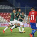 Celebración de Bolivia ante Paraguay